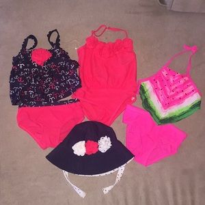 Other - 3 Baby Bathing Suits and 1 Sun Hat